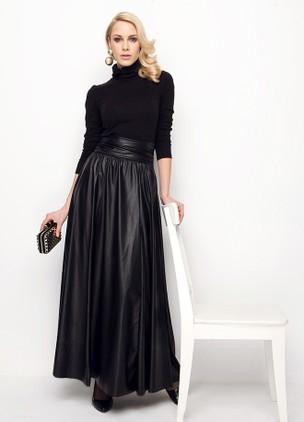 今天穿什么:这件涂漆裙配毛衣美翻了